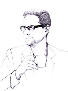 Hand drawn illustration of Simon