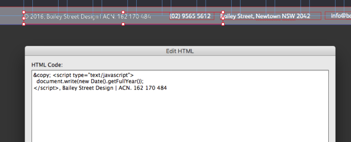 Footer code for Adobe Muse