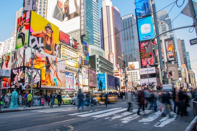 Time Square Website Ads